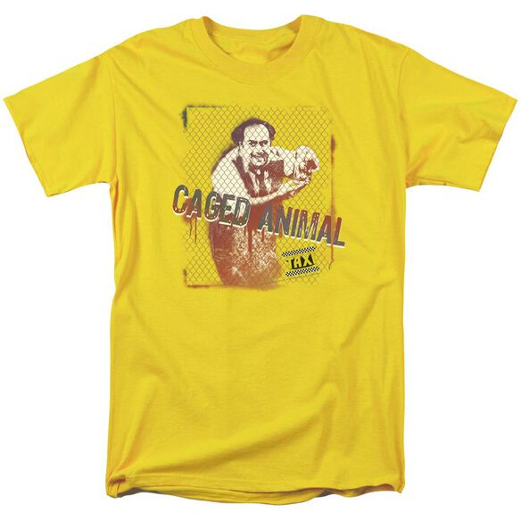 Taxi Caged Animal Short Sleeve Adult Yellow T-Shirt