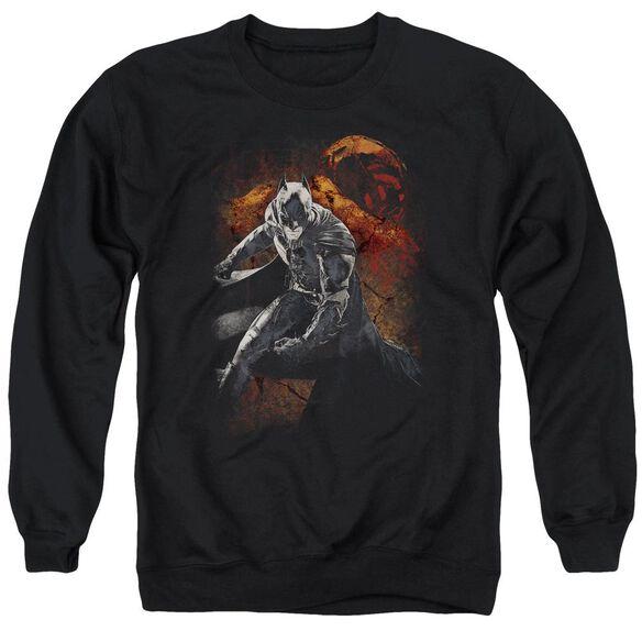 Dark Knight Rises Grungy Knight Adult Crewneck Sweatshirt