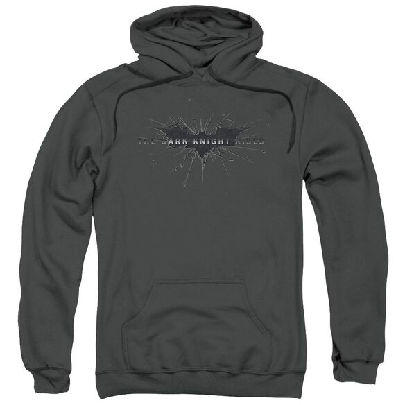 Dark Knight Rises Scratched Logo Adult Pull Over Hoodie