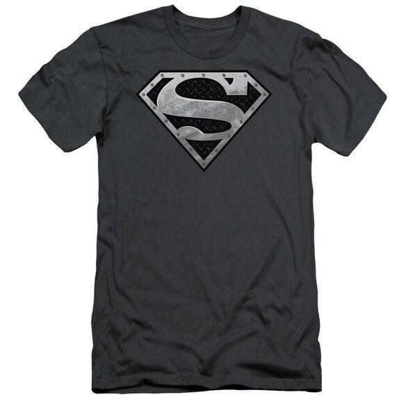 Superman Super Metallic Shield Short Sleeve Adult T-Shirt