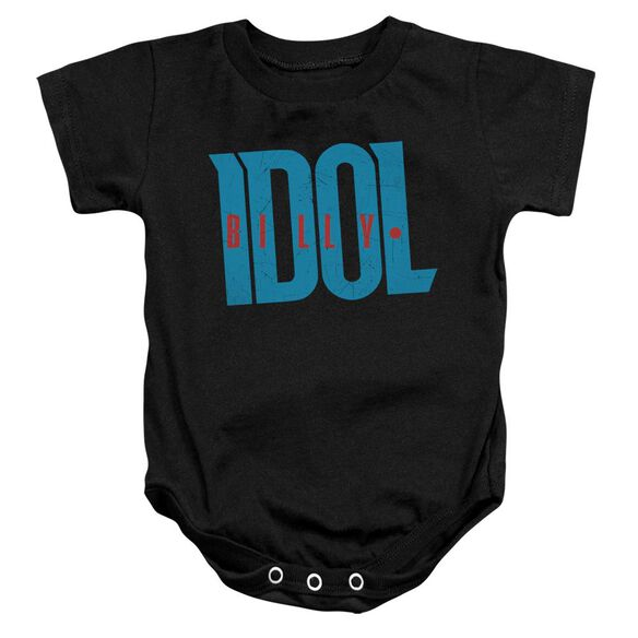Billy Idol Logo Infant Snapsuit Black