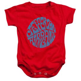 Jefferson Airplane Round Logo Infant Snapsuit Red