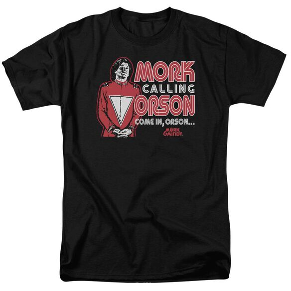 Mork & Mindy Mork Calling Orson Short Sleeve Adult T-Shirt