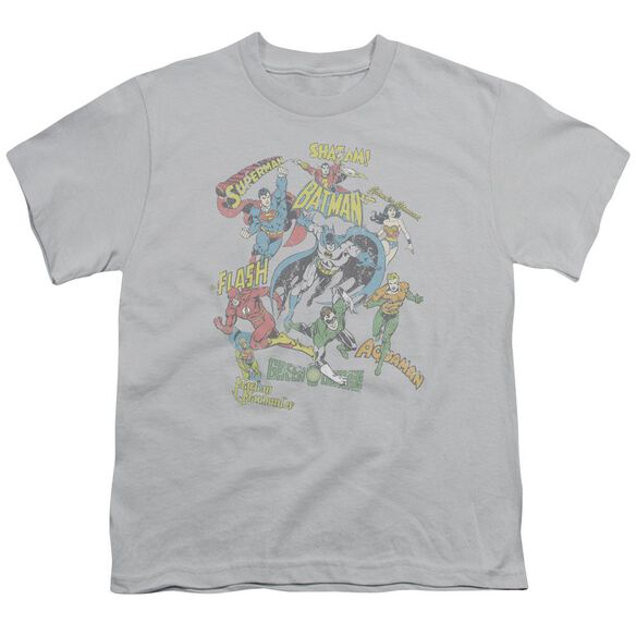 Dc Super Collage Short Sleeve Youth T-Shirt
