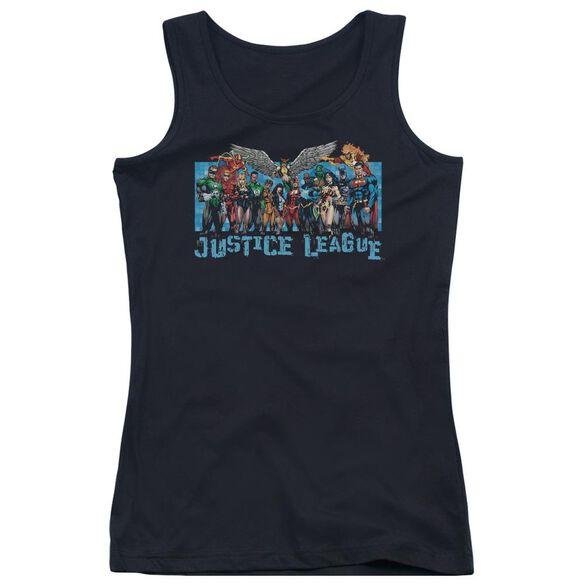 Jla League Lineup Juniors Tank Top