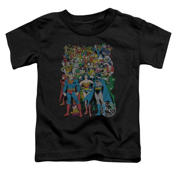 Dc Original Universe Short Sleeve Toddler Tee Black Lg T-Shirt