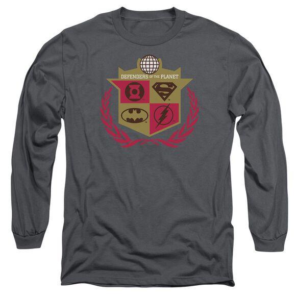 Jla Defenders Long Sleeve Adult T-Shirt