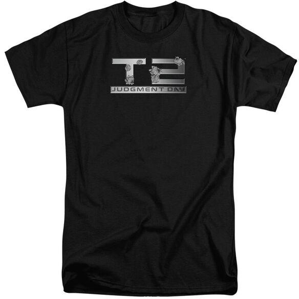 Terminator 2 Gunshot Logo Short Sleeve Adult Tall T-Shirt
