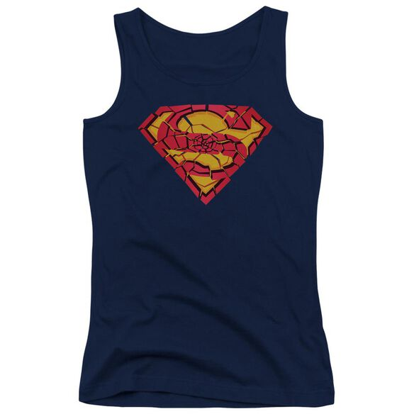 Superman Shattered Shield Juniors Tank Top