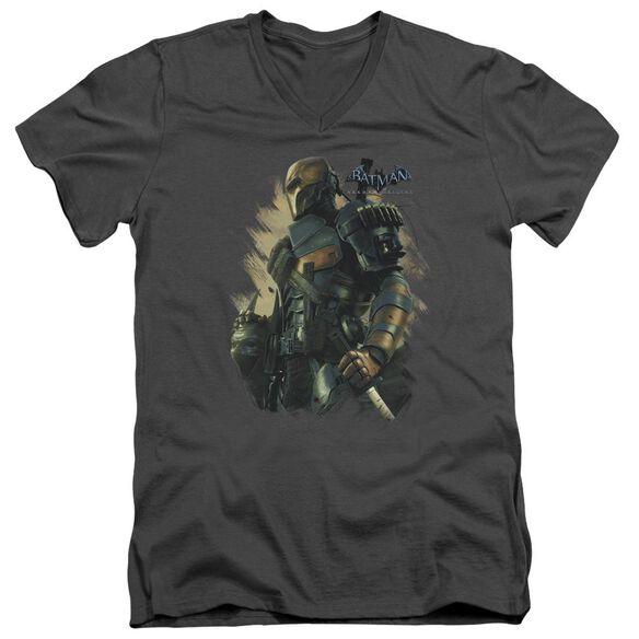Batman Arkham Origins Deathstroke Short Sleeve Adult V Neck T-Shirt
