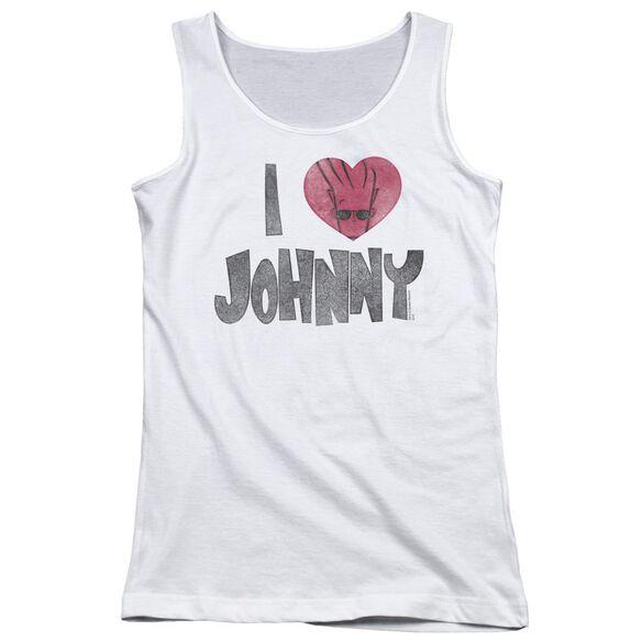 Johnny Bravo I Heart Johnny Juniors Tank Top