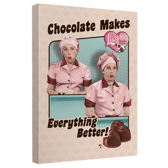 I Love Lucy Friends And Chocolate Quickpro Artwrap Back Board