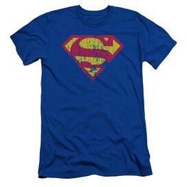 SUPERMAN CLASSIC LOGO DISTRESSED-S/S ADULT T-Shirt