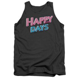 Happy Days Happy Days Logo - Adult Tank - Charcoal