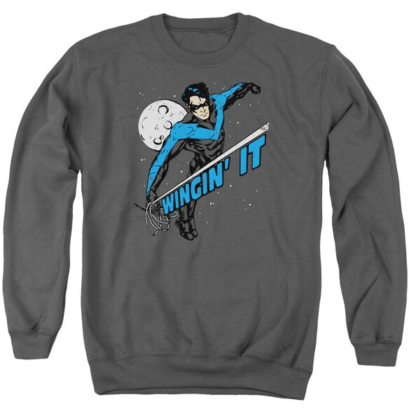 Batman Wingin It Adult Crewneck Sweatshirt