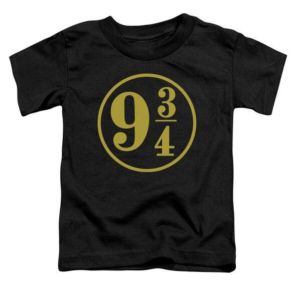 Harry Potter 9 3 4 Short Sleeve Toddler Tee Black T-Shirt