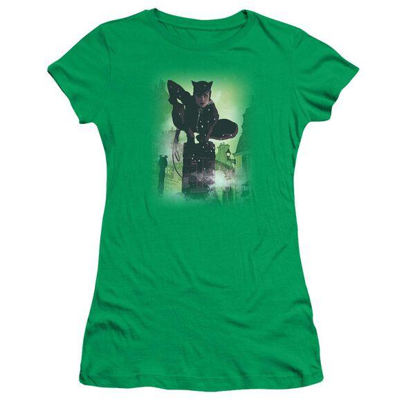 BATMAN CATWOMAN #63 COVER - S/S JUNIOR SHEER - KELLY GREEN T-Shirt