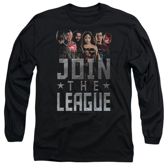 Justice League Movie Join The League Long Sleeve Adult T-Shirt