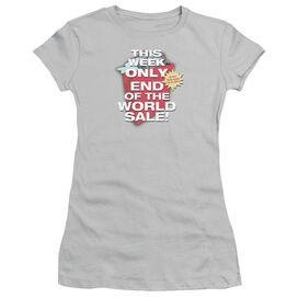 End Of The World Sale Short Sleeve Junior Sheer T-Shirt