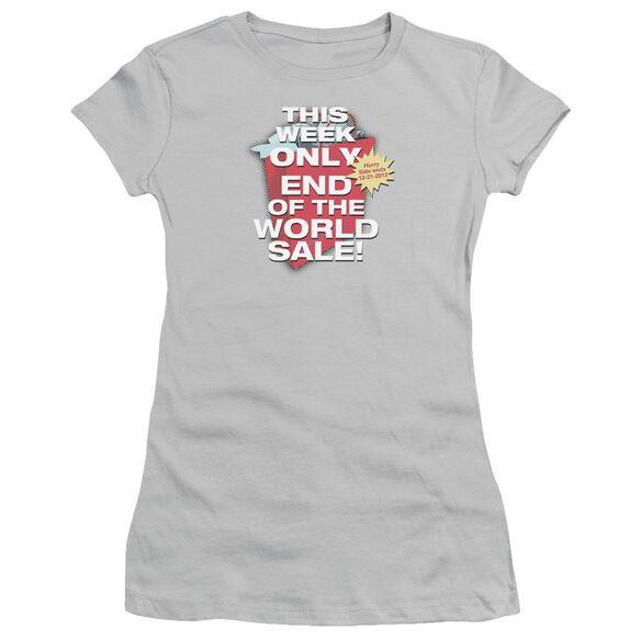 End Of The World Sale Short Sleeve Junior Sheer T-Shirt