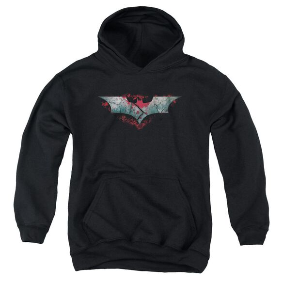 Dark Knight Rises Split & Crack Logo Youth Pull Over Hoodie