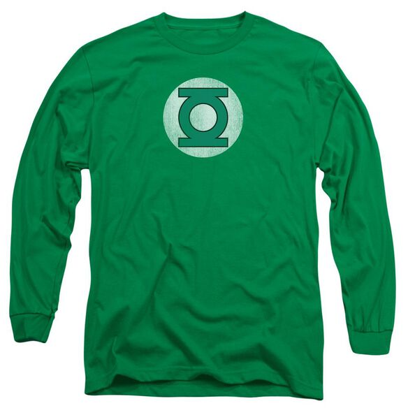Dc Gl Logo Distressed Long Sleeve Adult Kelly T-Shirt