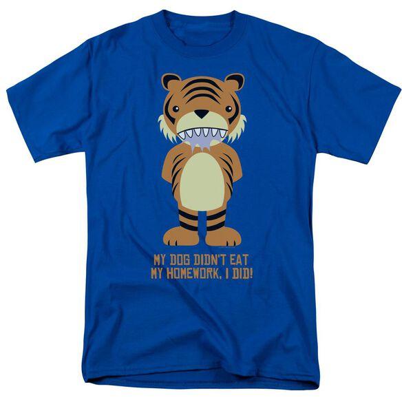My Homework Short Sleeve Adult Royal T-Shirt