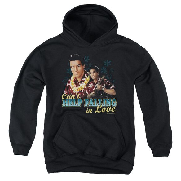 Elvis Can't Help Falling Youth Pull Over Hoodie