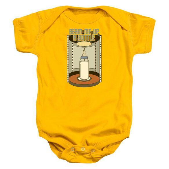 Star Trek Bottle Beam Up Infant Snapsuit Gold Md