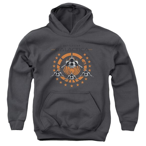 Bsg Squadron Youth Pull Over Hoodie
