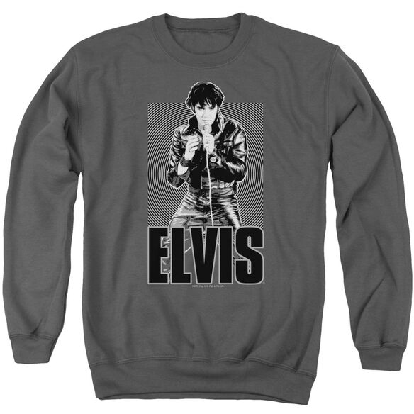 Elvis Leather Adult Crewneck Sweatshirt