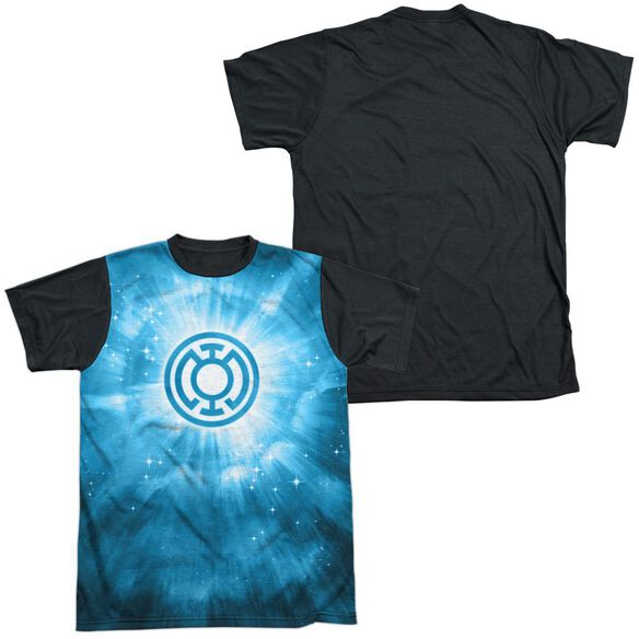 Green Lantern Blue Energy Short Sleeve Adult Front Black Back T-Shirt
