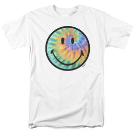 Smiley World Tie Dye Face Short Sleeve Adult T-Shirt