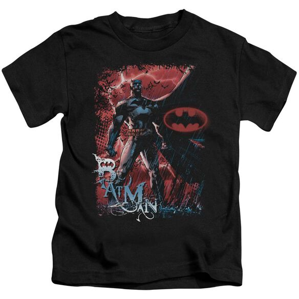 Batman Gotham Reign Short Sleeve Juvenile Black Md T-Shirt