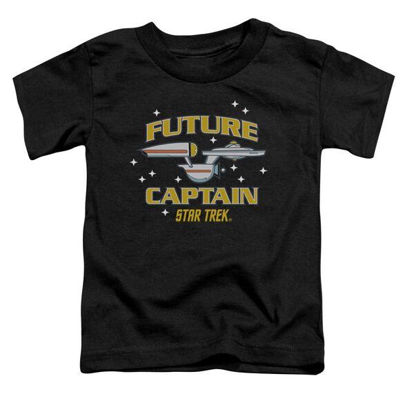 Star Trek Future Captain Short Sleeve Toddler Tee Black Md T-Shirt