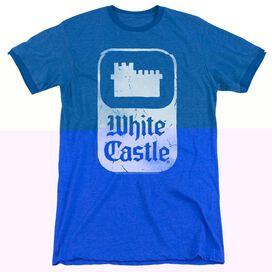 White Castle Classic Logo - Adult Heather Ringer - Royal Blue