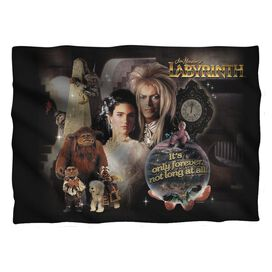 Labyrinth Only Forever Pillow Case White