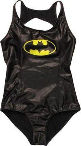 Batman Faux Leather One Piece Swimsuit