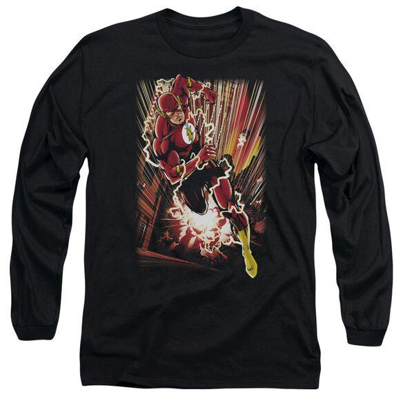 Jla Street Speed Long Sleeve Adult T-Shirt