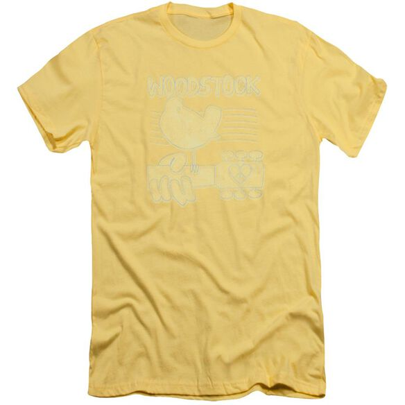 Woodstock Liney Logo Short Sleeve Adult T-Shirt