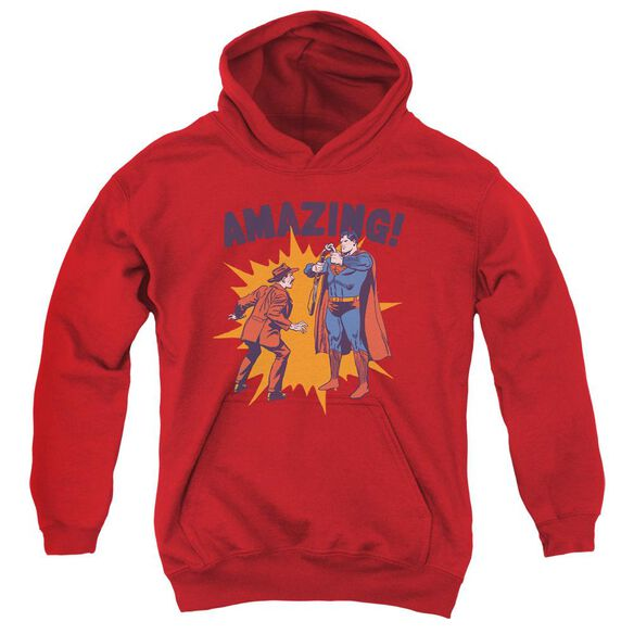 Superman Amazing Youth Pull Over Hoodie