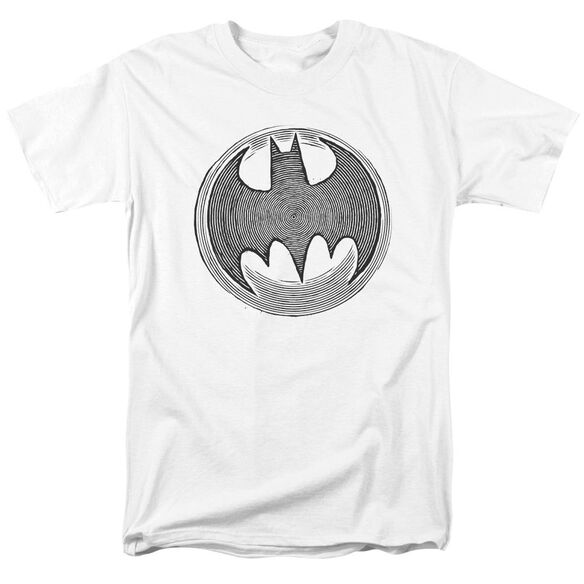 Batman Knight Knockout Short Sleeve Adult White T-Shirt