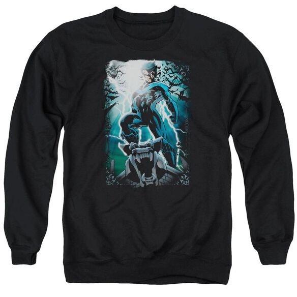 Batman Night Light Adult Crewneck Sweatshirt