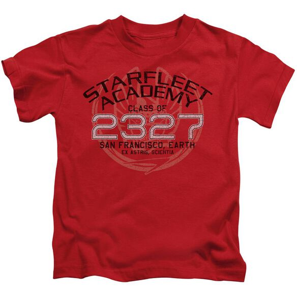 Star Trek Picard Graduation Short Sleeve Juvenile Red T-Shirt