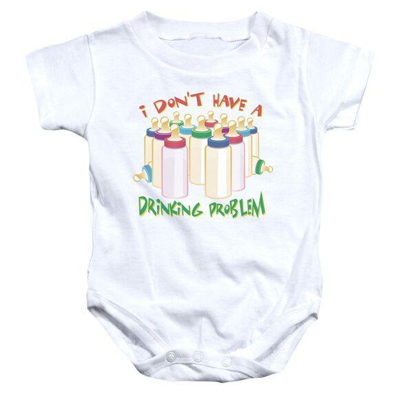 No Problem Infant Snapsuit White Xl