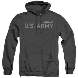 Army Helicopter - Adult Heather Hoodie - Black