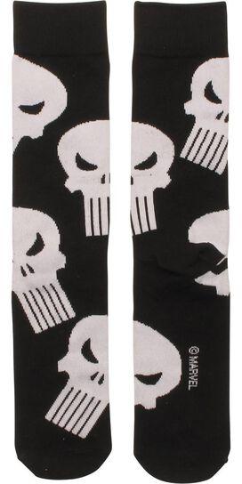 Punisher Logo All Over Crew Socks