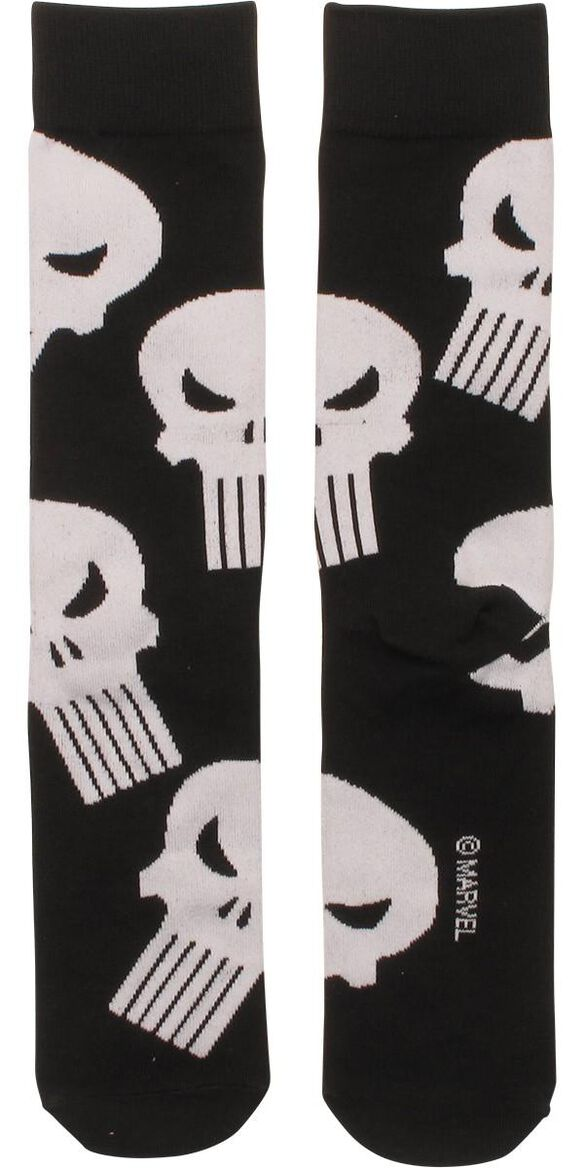 Punisher Logo All Over Crew Socks