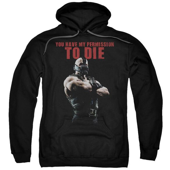 Dark Knight Rises Permission To Die Adult Pull Over Hoodie