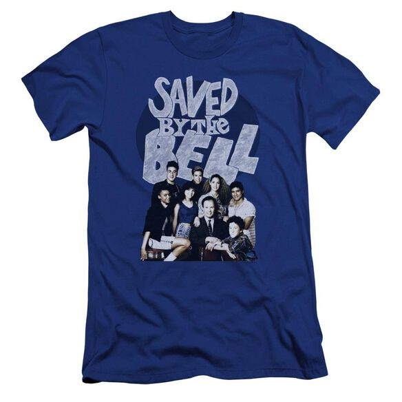 Saved By The Bell Retro Cast Premuim Canvas Adult Slim Fit Royal